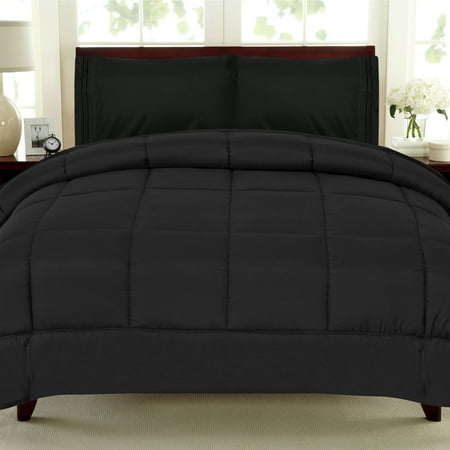 - All Seasons Down Alternative Comforter Solid Color Box Stitch