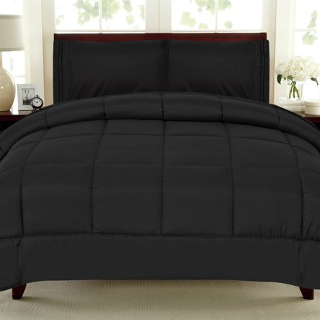 All Seasons Down Alternative Comforter Solid Color Box Stitch - King ()