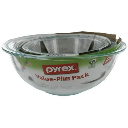 Pyrex Prepware 3 piece Mixing Bowl Set
