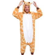 SILVER LILLY Adult Giraffe One Piece Animal Halloween Costume Pajamas