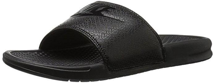 Nike 343880-001: Benassi Black Black Mens Sliders Sandals Flip Flops by Nike