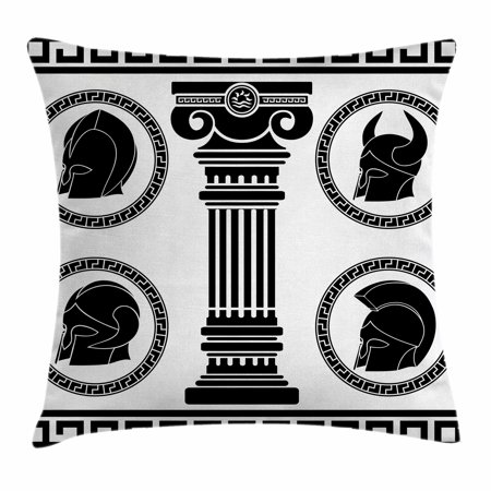 Toga Party Throw Pillow Cushion Cover, Patterned Circular Frames ...