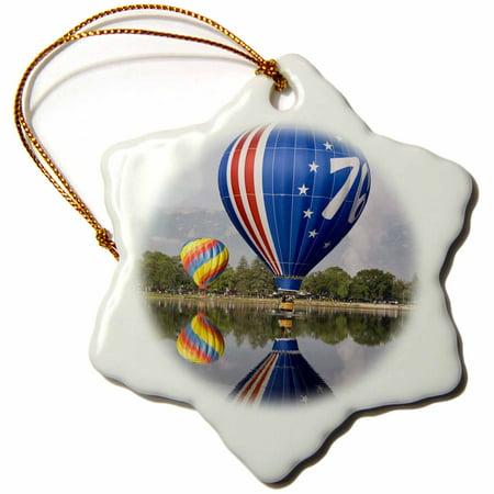 Party Store Colorado Springs (3dRose CO, Colorado Springs, Hot air balloon - US06 BJA0257 - Jaynes Gallery, Snowflake Ornament, Porcelain,)