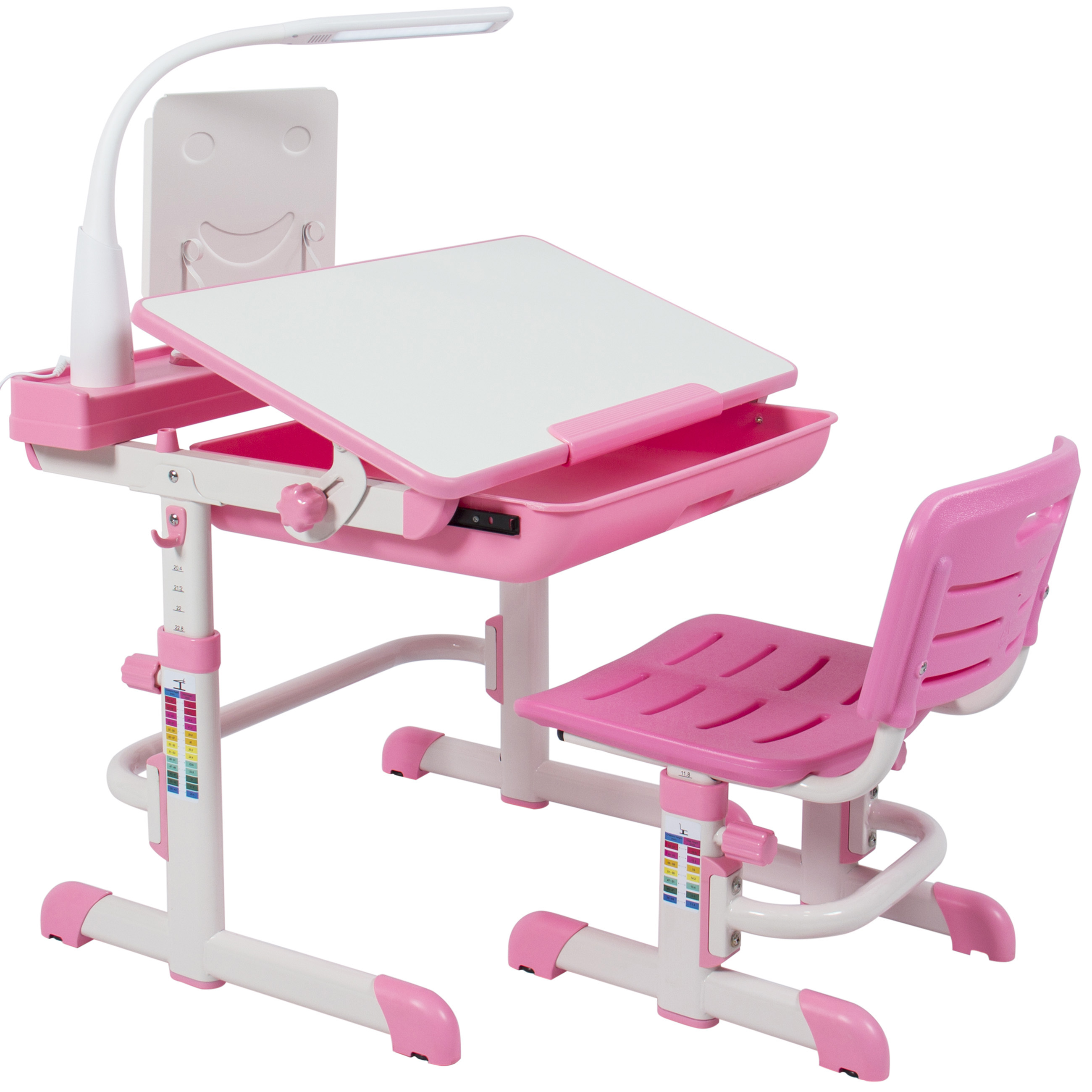 Best Choice Products Height Adjustable Childrens Desk and Chair Set