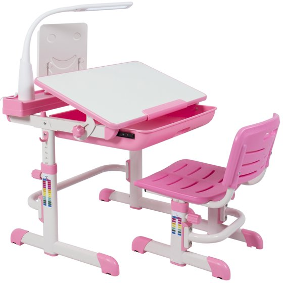 Best Choice Products Height Adjule Children S Desk And Chair Set For Kids Work Station Study