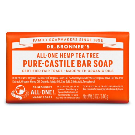 (2 pack) Dr. Bronner's Tea Tree Bar Soap