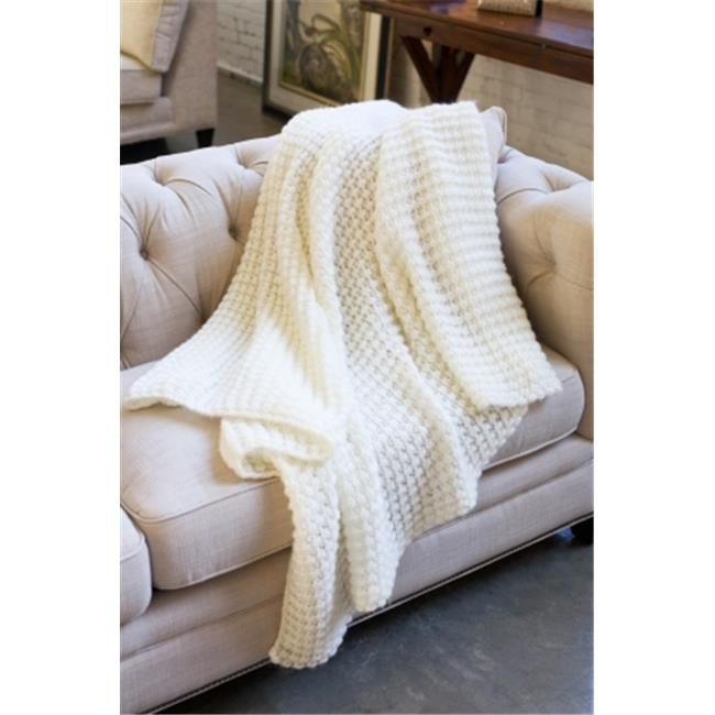 Woven Workz 133-001 Claire Throw, Cream