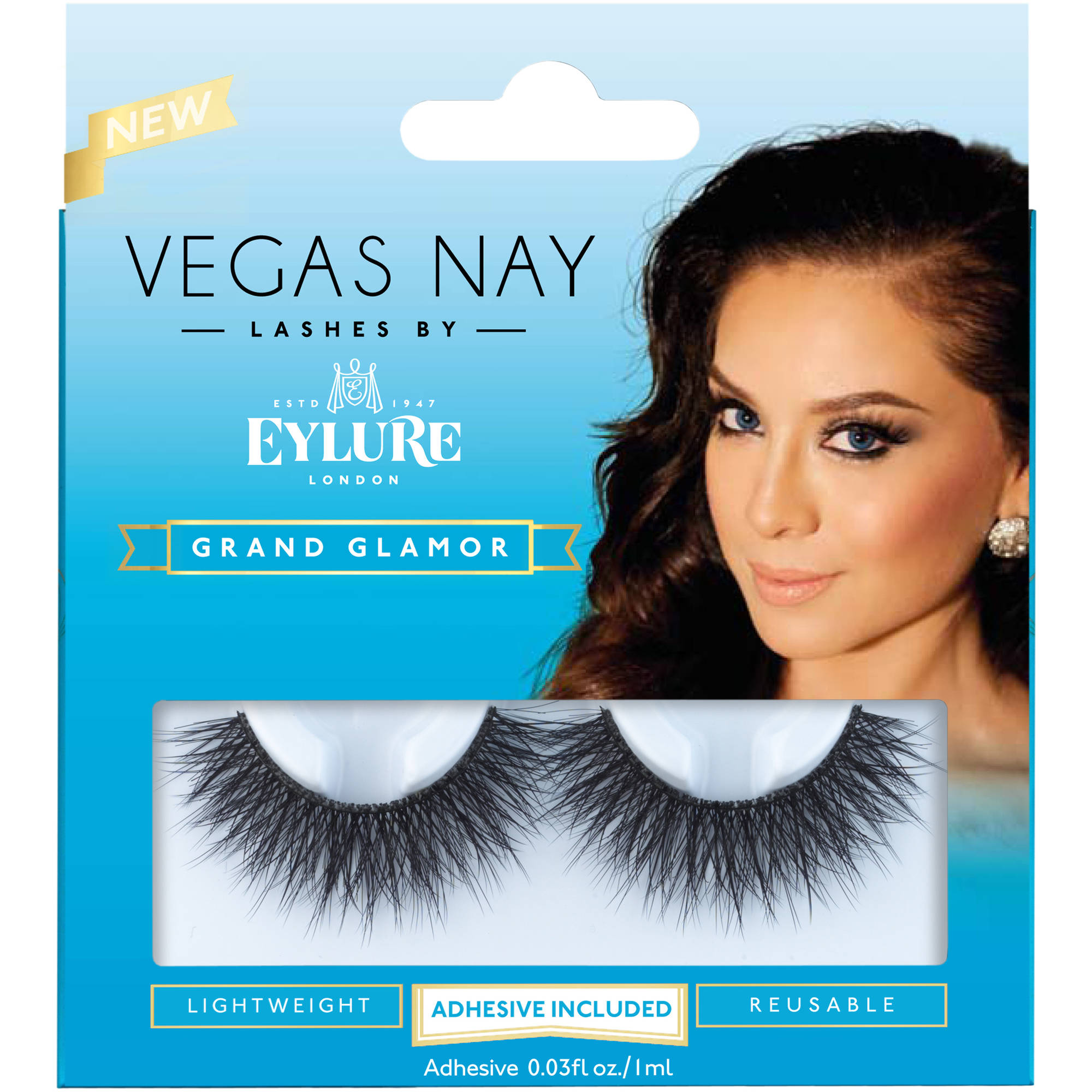 Vegas Nay by Eylure Grand Glamor Eyelashes Kit, 2 pc