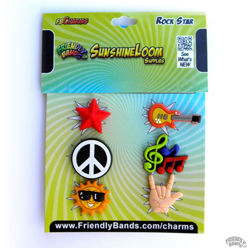 Friendly Bands Sunshine Charms, 6pk, Rockstar