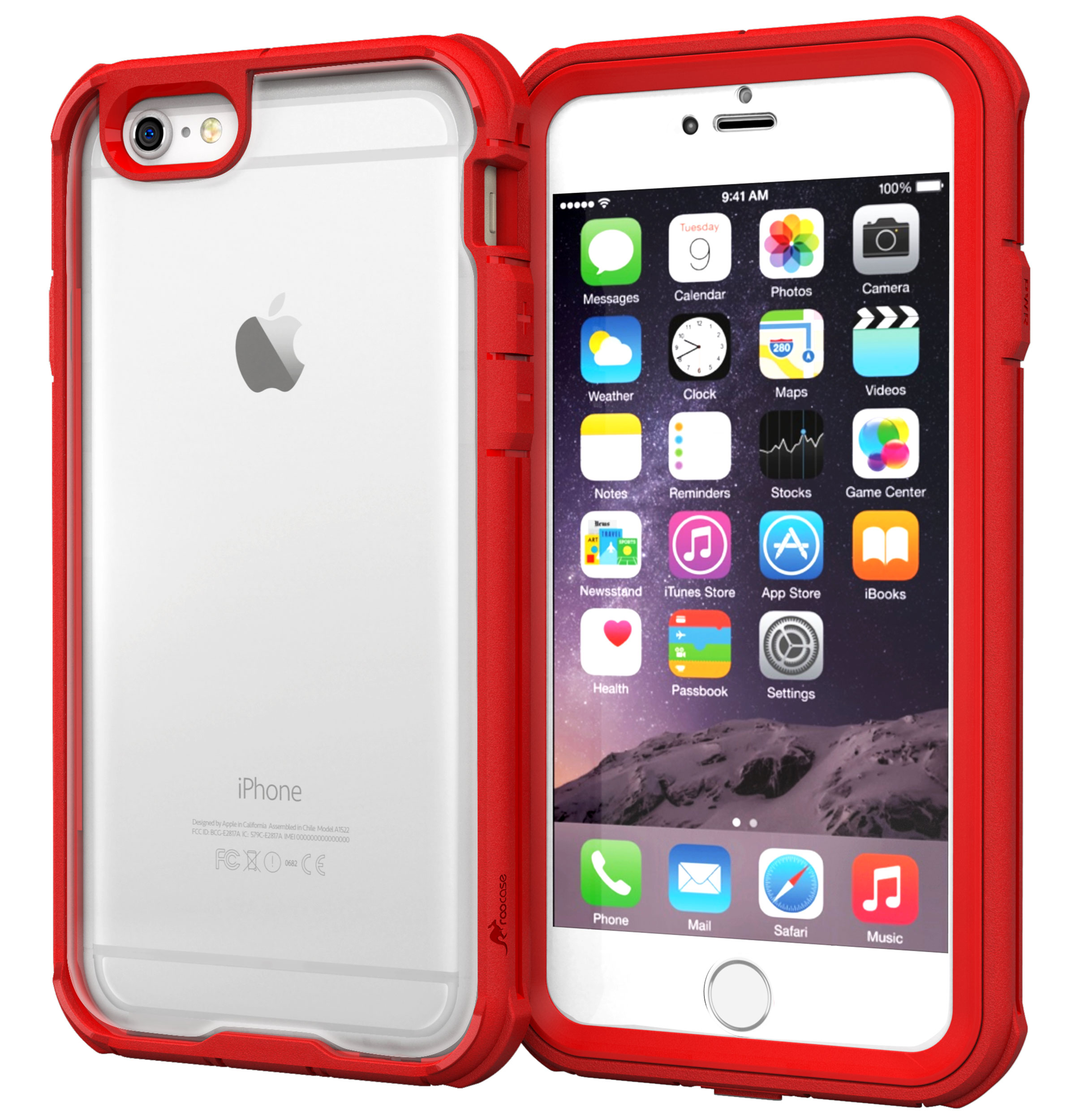 iPhone 6s Case, roocase [Glacier TOUGH] Hybrid Clear PC / TPU Armor Full Body Protection Case Cover for Apple iPhone 6 / 6s (2015) / iPhone 6 Plus 5.5