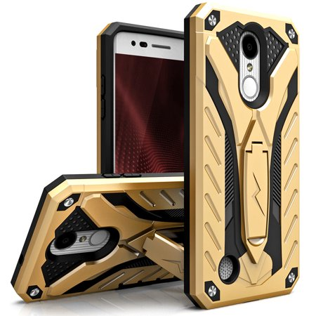 Zizo STATIC Series compatible with LG Aristo 2 Case Military Grade Drop  Tested with Built In Kickstand LG Fortune 2 Case