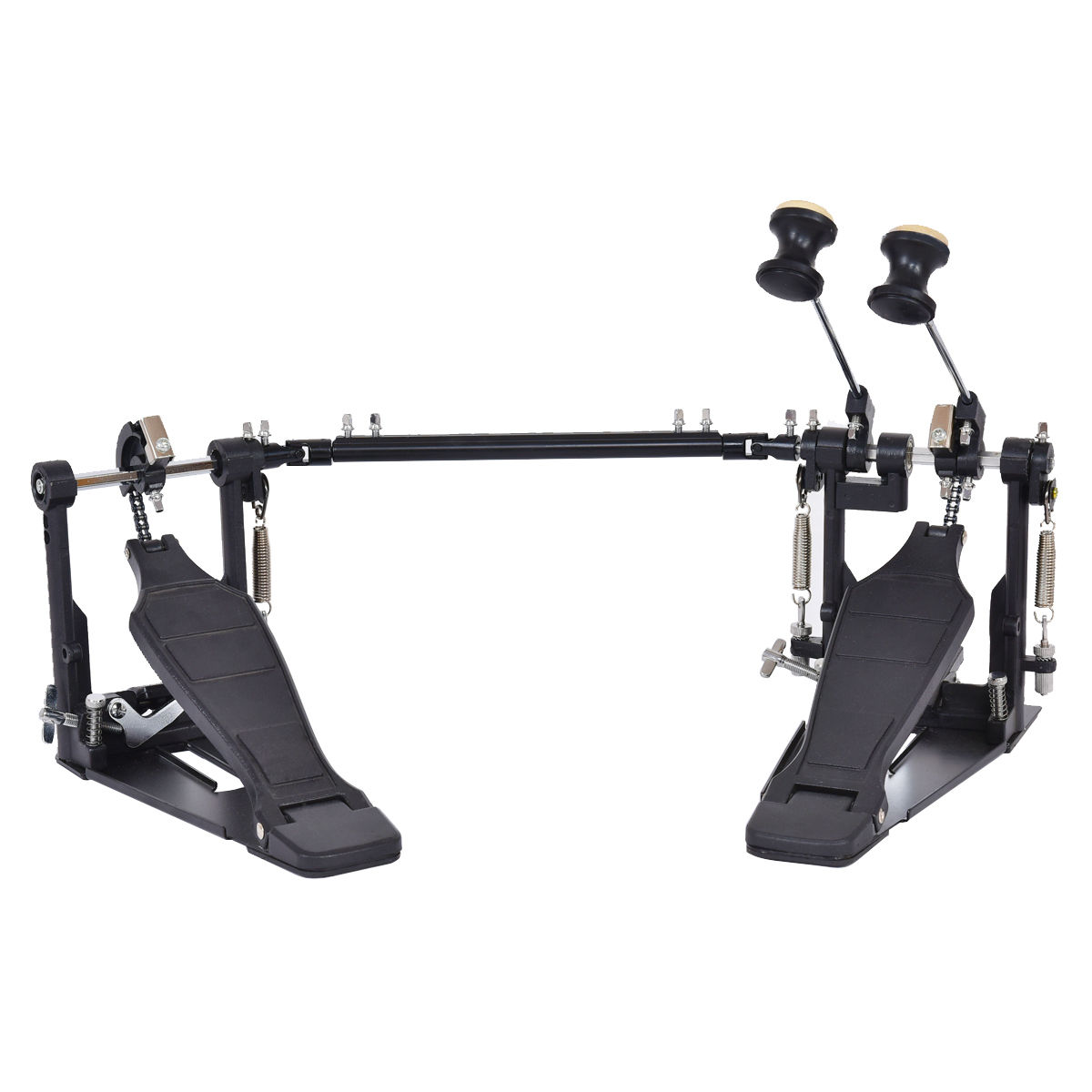 Costway Double Bass Drum Pedal Dual Pedal Foot Kick Percussion Drum Set Single Chain by Costway