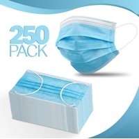 250-Pack, Disposable Face Mask 3-layer Ear Loop