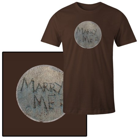 3c33b716b56 Mad Marble - Men s Marry Me  Quote Written on Beach T-Shirt - Walmart.com