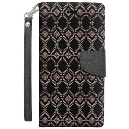 Apple iPhone 6 Plus Wallet Case - Victorian Wallpaper Tan on Black -  Walmart.com 82b138bc364
