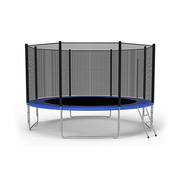 KARMAS PRODUCT 12-Foot Trampoline Combo Bounce Jump Trampoline with Safety Enclosure Net and Spring Pad