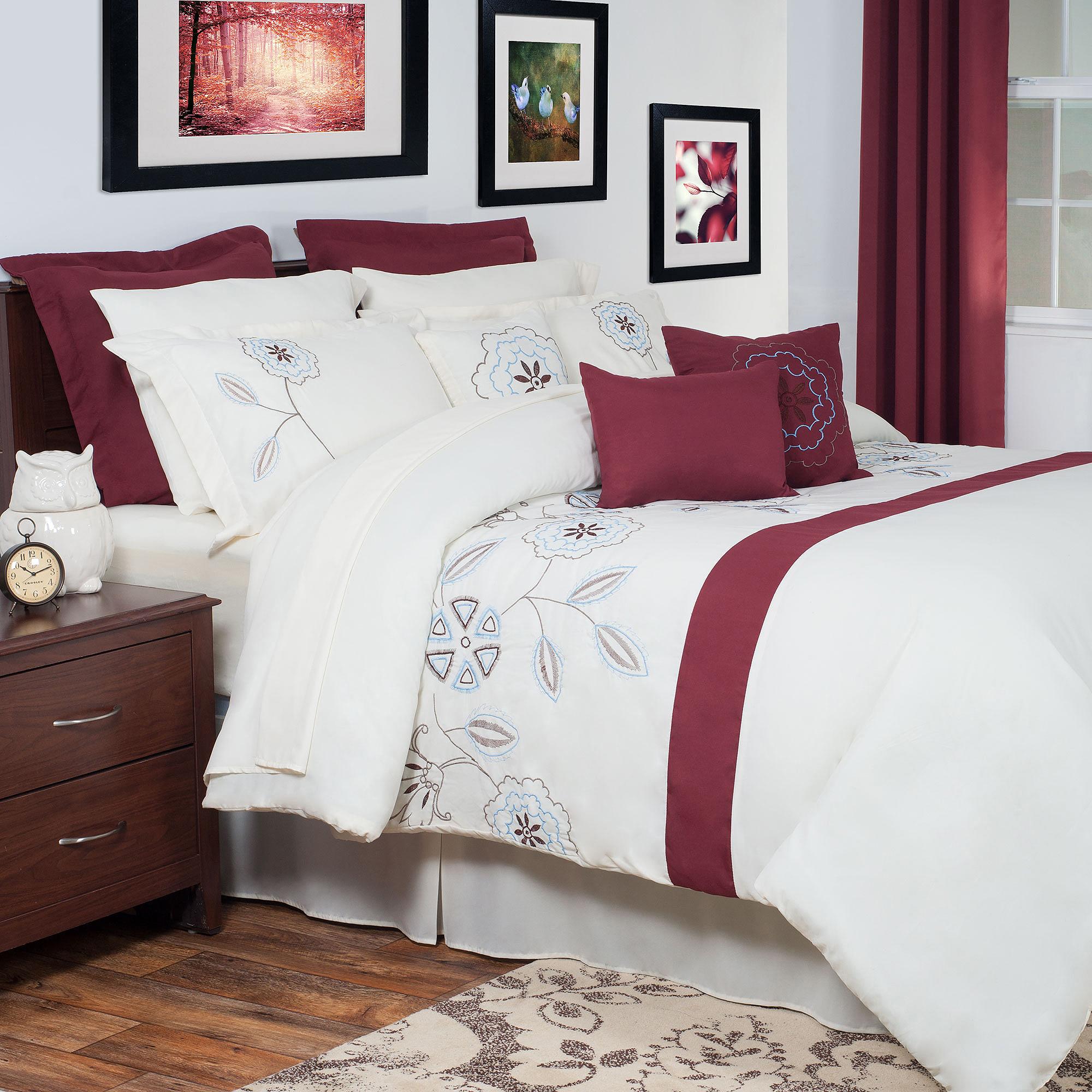 Somerset Home Olivia 13-Piece Oversized Embroidered Bedding Comforter Set
