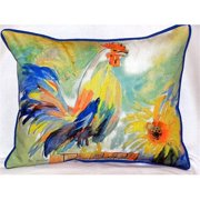 Betsy Drake HJ265 Betsy's Rooster Large Indoor-Outdoor Pillow 16 in. x 20 in.