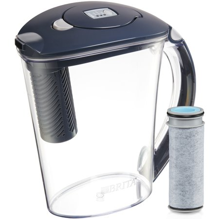 Brita Stream Filter As You Pour Water Pitcher With 1 Rapids Bpa Free Carbon Gray 10 Cup