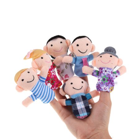 Family Finger Puppet Dolls Toy for Kids and Childrens ,  6pcs
