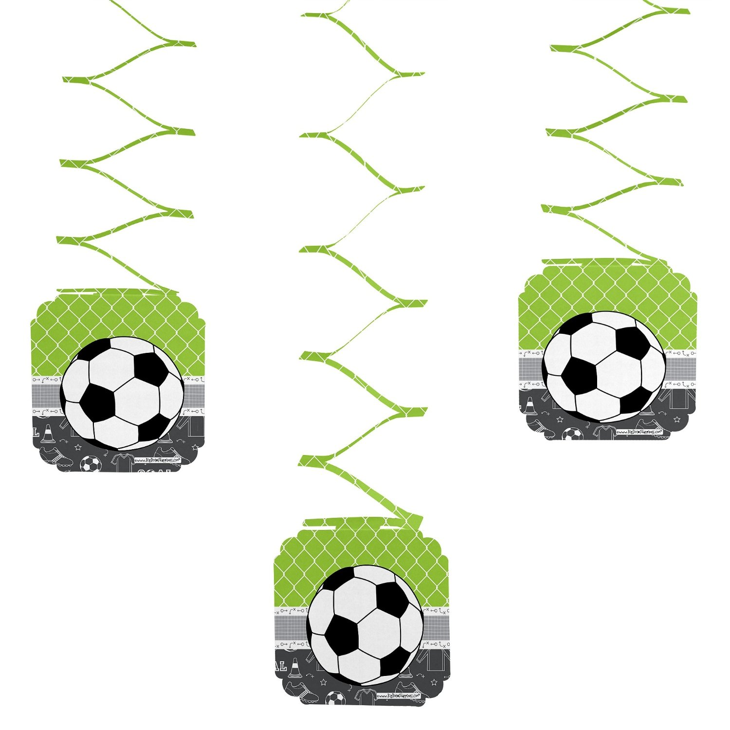 GOAAAL! - Soccer - Party Hanging Decorations - 6 count