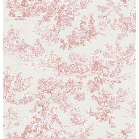 Brewster Lovely Toile Wallpaper
