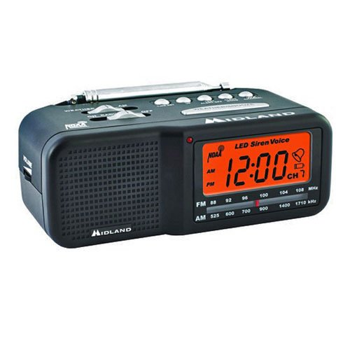 Spy-MAX Security Products Midland Weather Clock Radio Self Recording Hidden Camera, Includes Free eBook
