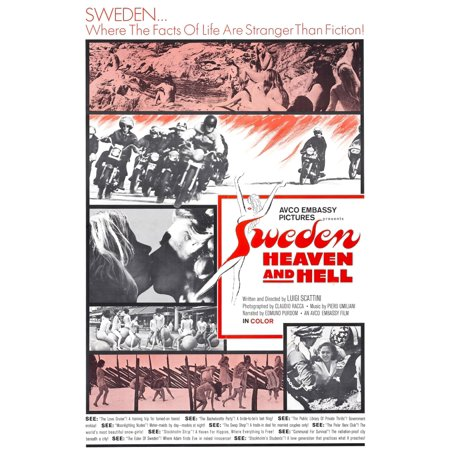Sweden Heaven And Hell Stretched Canvas -  (11 x 17) (Heaven And Hell Halloween Party Ideas)