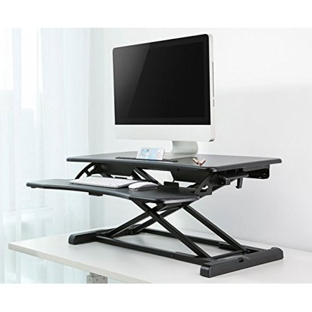 Impact Mounts Height Adjustable Ergonomic Desk Monitor Riser Tabletop Sit to Stand Workstation w/ Gas