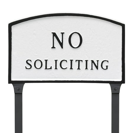 Montague Metal Products No Soliciting Arched Lawn -