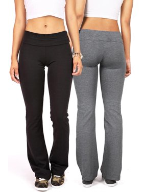 032f28dd23a47 Product Image 2 Item Bundle: Ambiance Apparel Women's Juniors Yoga Pants  (S, Black & Charcoal