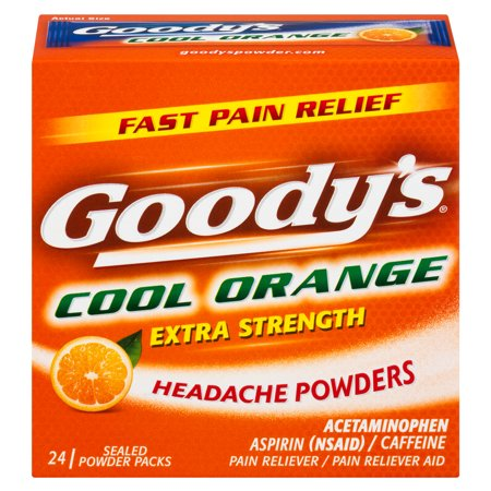 Goody's Extra Strength Headache Powders, Cool Orange, 24