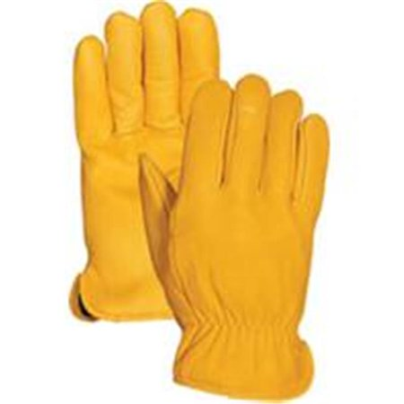 Bellingham Fall/winter P-Premium Insulated Leather Driver Glove- Yellow L (Case of 6 )