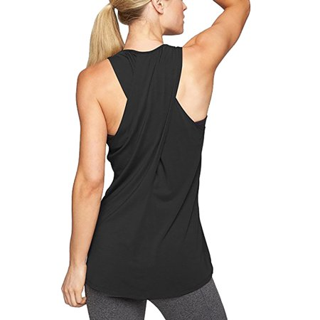 Organic Cross Back Tank - Tuscom Women's Cross Back Yoga Shirt Sleeveless Racerback Workout Active Tank Top