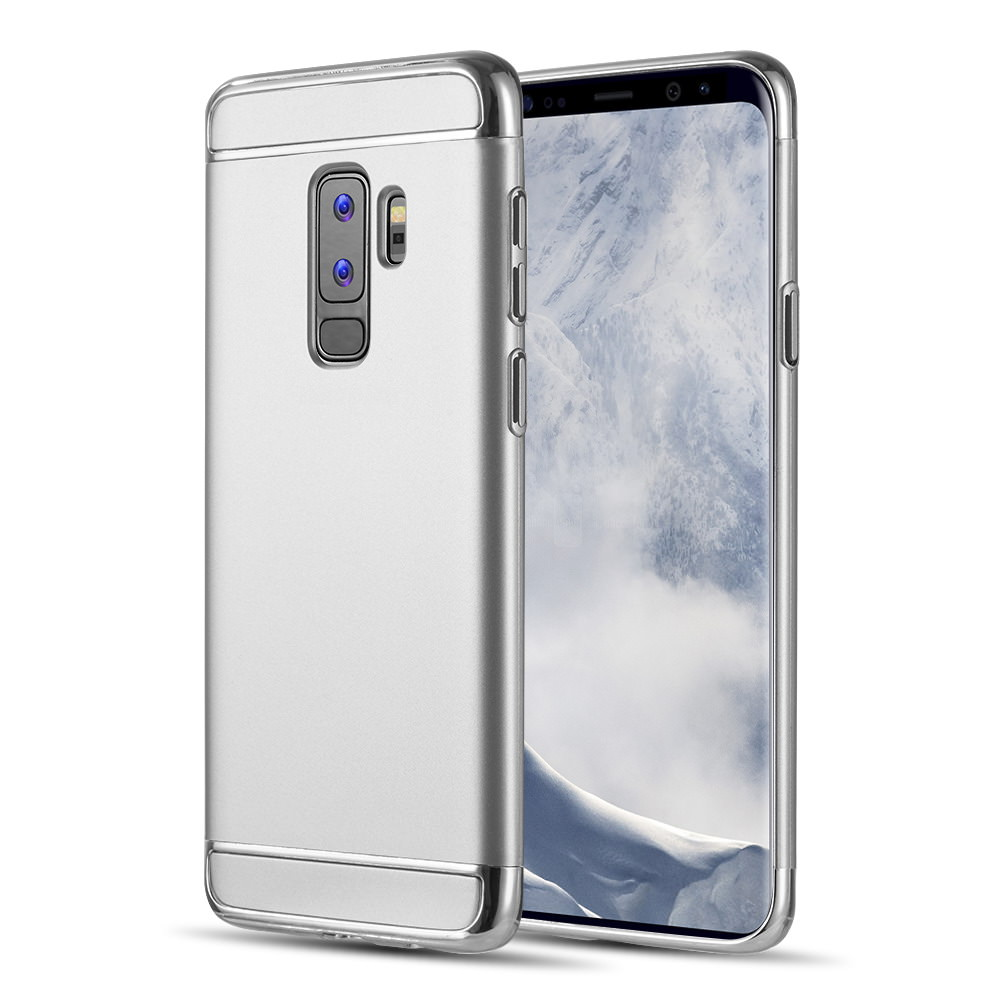 MUNDAZE Silver Luxury Sleek Ultra Thin Case For Samsung Galaxy S9 PLUS Phone