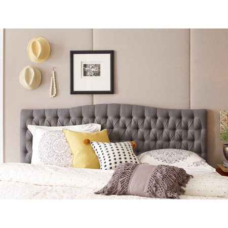 Elle Decor Tufted Upholstered Headboard ()