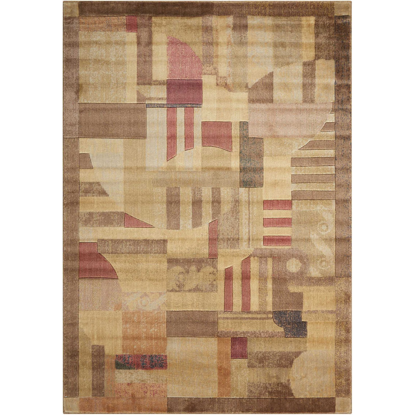 Nourison Somerset Textured Mosaic Woven Decorative Rug