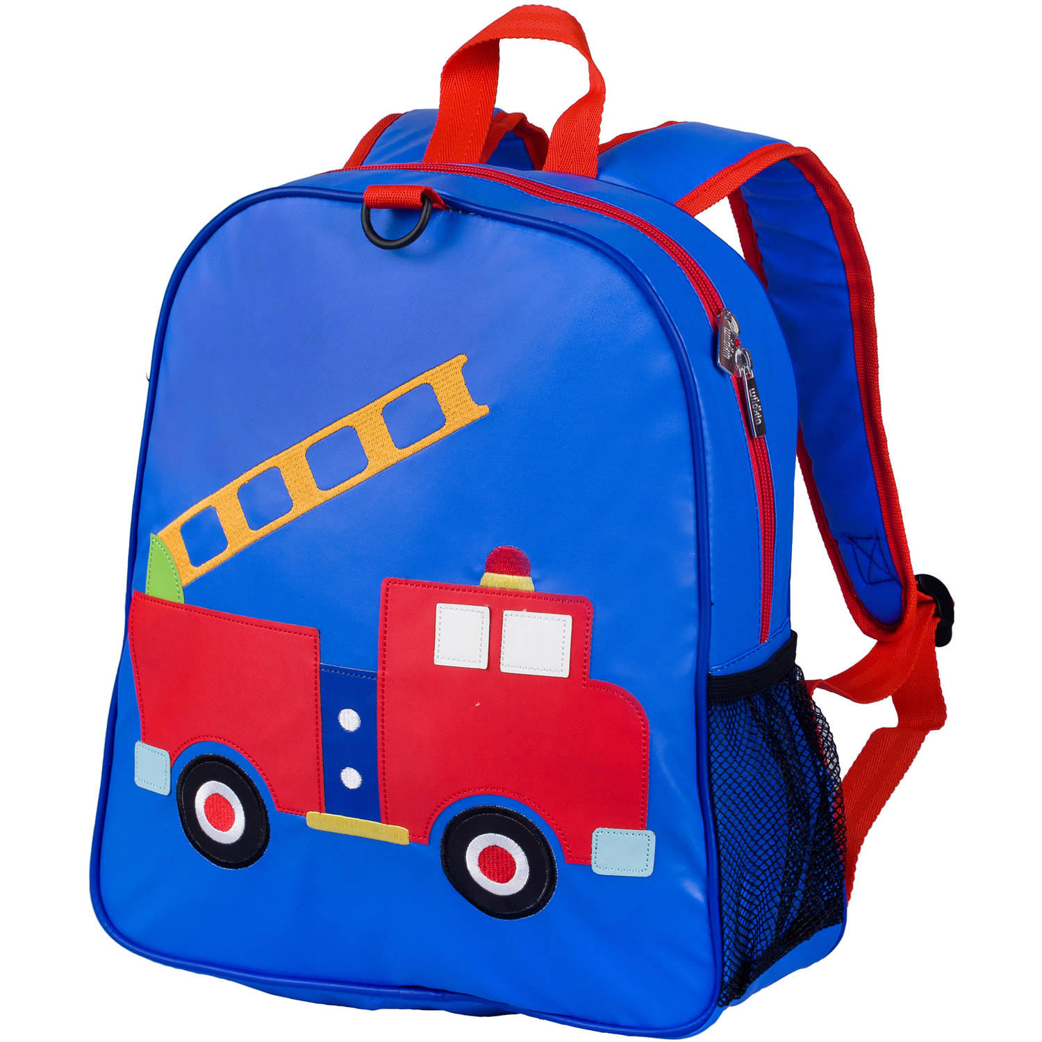 Olive Kids Fire Truck Embroidered Backpack