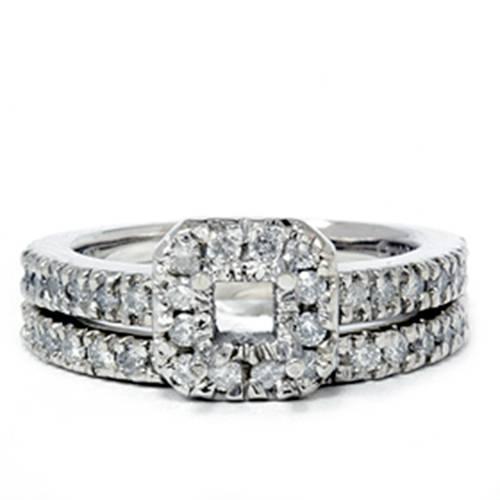 Pompeii3 3/4ct Princess Cut Diamond Engagement Ring Setti...