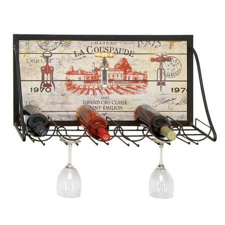EC World Imports Urban Chateau La Couspaude 6 Bottle Hanging Wine ...