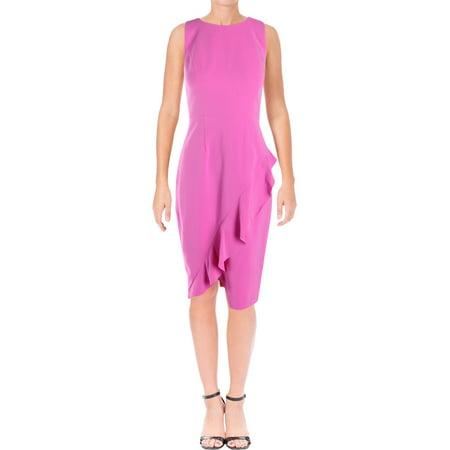 Cascade Sleeveless - Jax Womens Cascade Ruffle Sleeveless Party Dress Purple 10