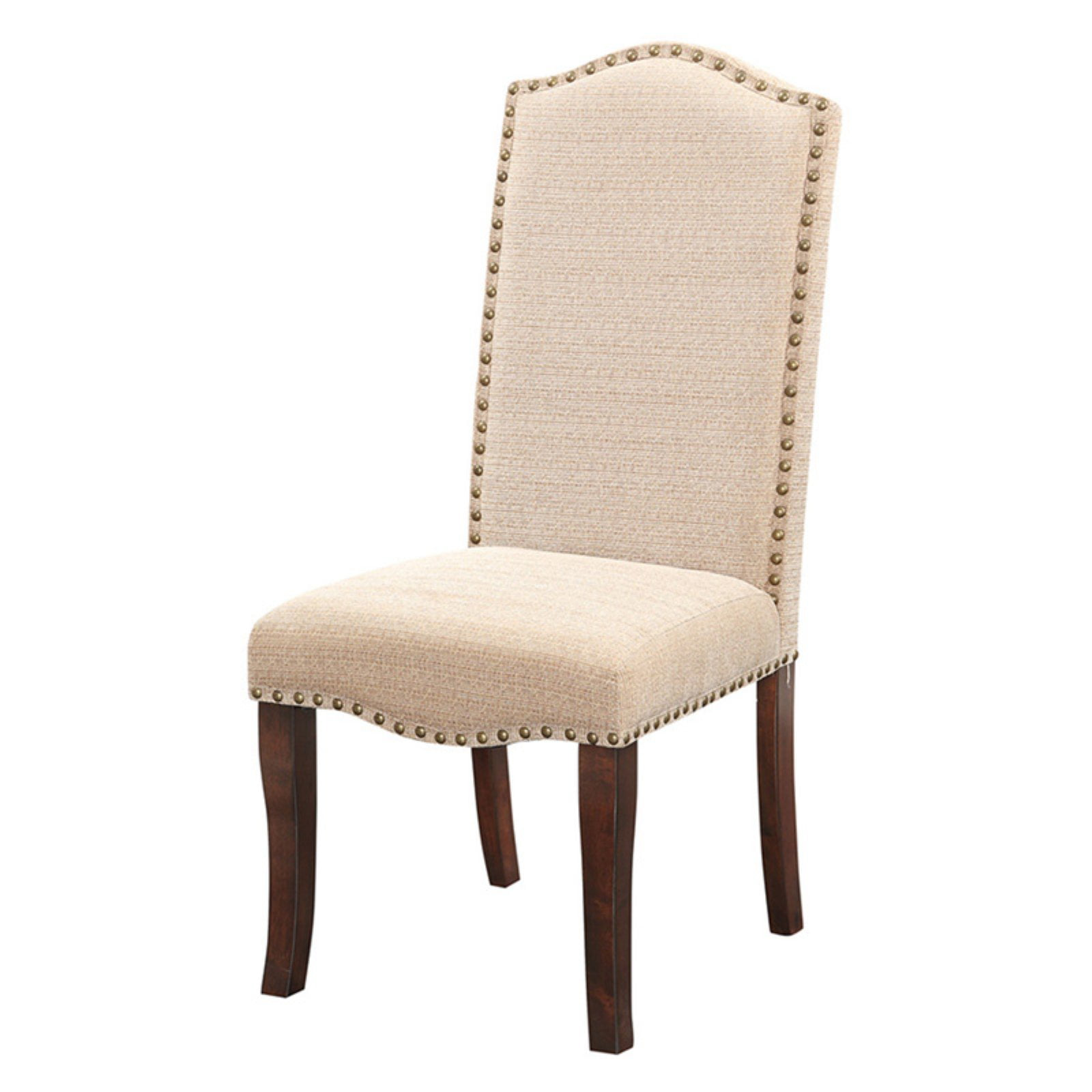 Set Of 4 Country Cream Dining Chairs: K&B Furniture Upholstered Cream White Dining Chair