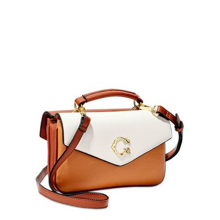 C. Wonder Abigail Vegan Leather Double Flap Crossbody Bag