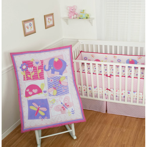 Sumersault Forever Friends 4-Piece Crib Bedding Set