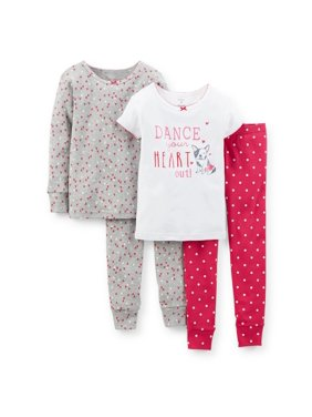 Product Image Carters Baby Clothing Outfit Girls 4-Piece Snug-Fit Cotton PJs  - Dance Pink d1a372447