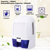 Electric Mini Dehumidifier, 1500 ML,215 sq ft Compact and Portable for Damp Air, Mold, Moisture in Home, Kitchen, Bedroom, Basement, Caravan, Office, Garage,Removable & Washable HFON