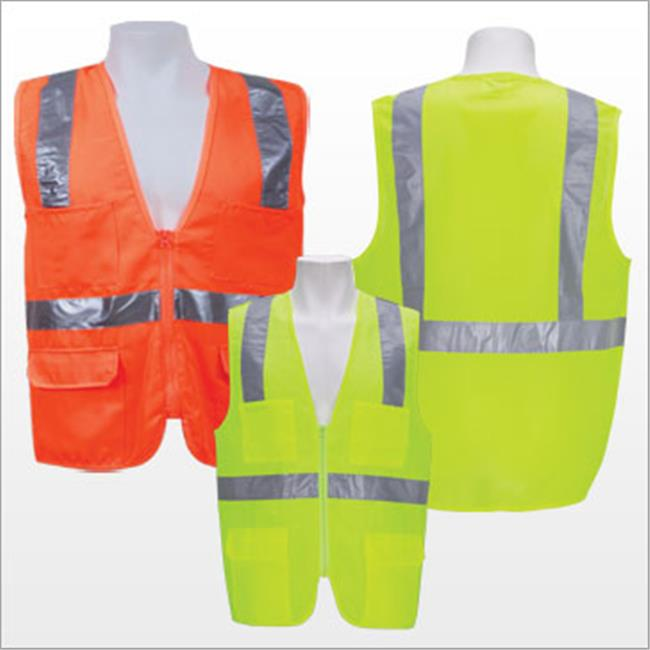 3asafety C2801-4XL Lime Solid Front & Mesh Back Vest - 4Xl