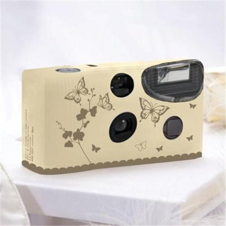 Butterfly Garden Ivory with Gold Singe Use Camera (Gold Sony Camera)