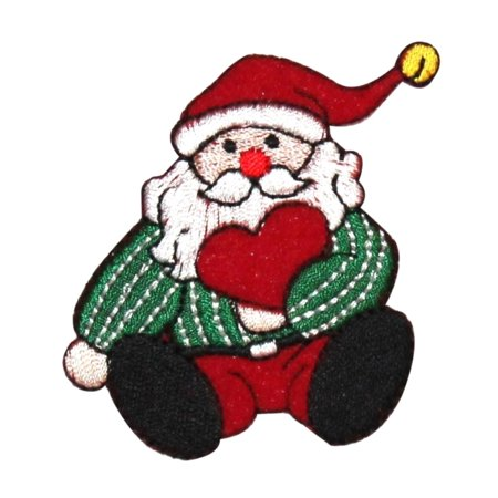 ID 8158A Santa Claus Toy Patch Christmas Love Doll Embroidered Iron On Applique (Iron Dolls)
