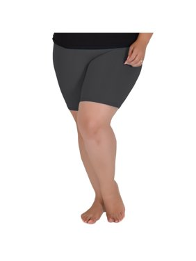 Stretch is Comfort Bike Shorts for Girls and Women   Women's Athletic Workout Shorts   Cotton   Child Small (6) - Adult 5X (28-30)